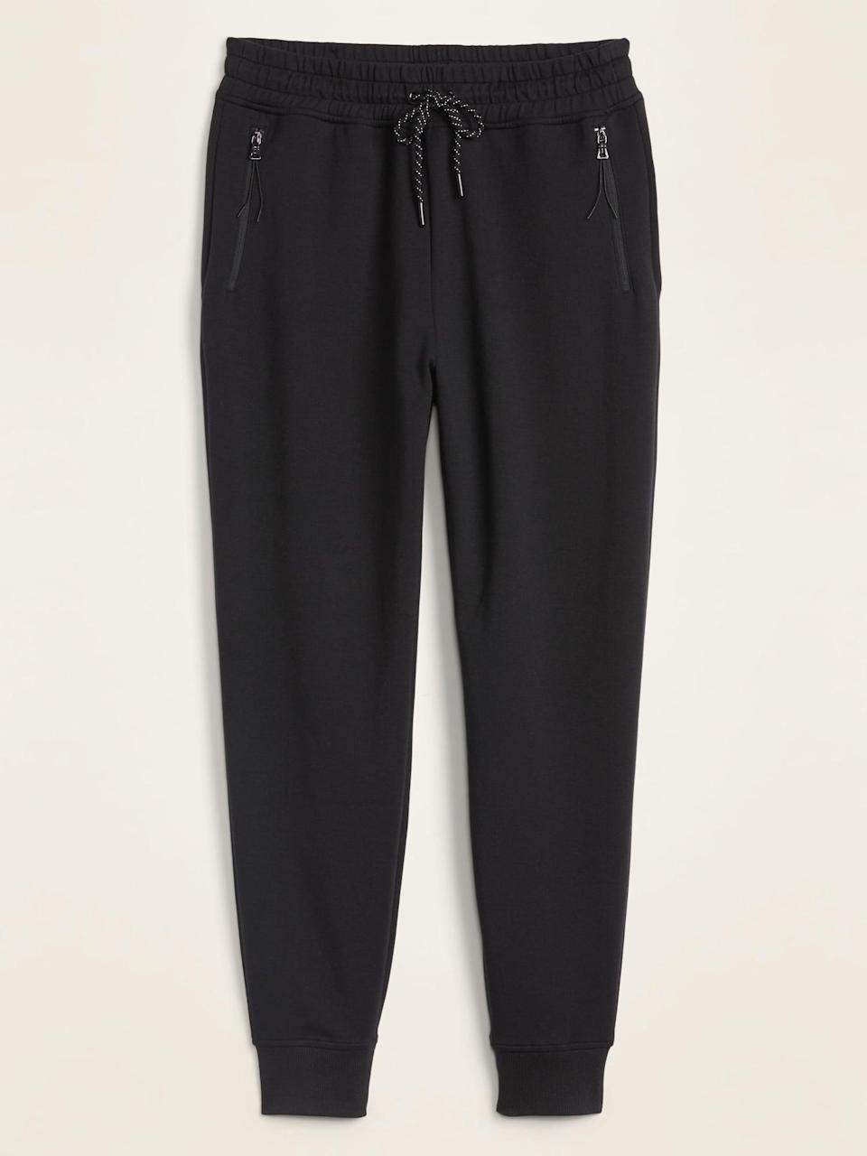 <p>These <span>High-Waisted Dynamic Fleece Jogger Pants</span> ($40) have great zipper pockets so nothing will fall out.</p>
