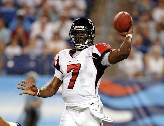 Michael Vick in more football-related days. (Getty)