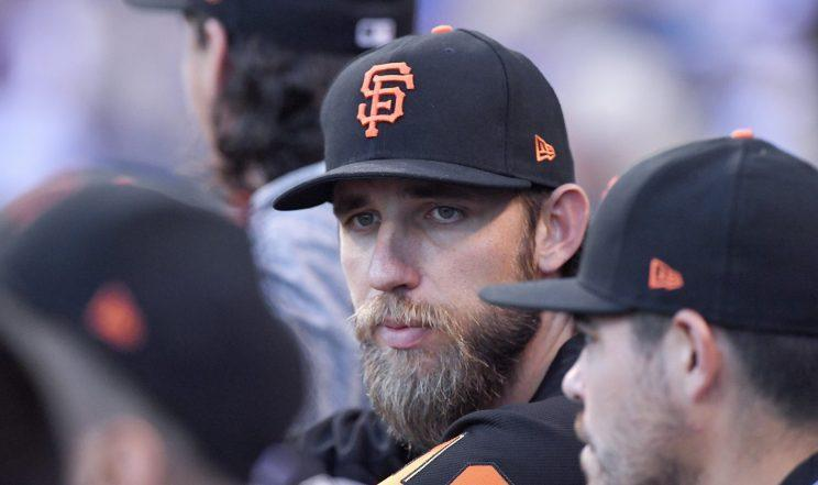 Madison Bumgarner won't be pitching for the Giants anytime soon. (Getty Images)
