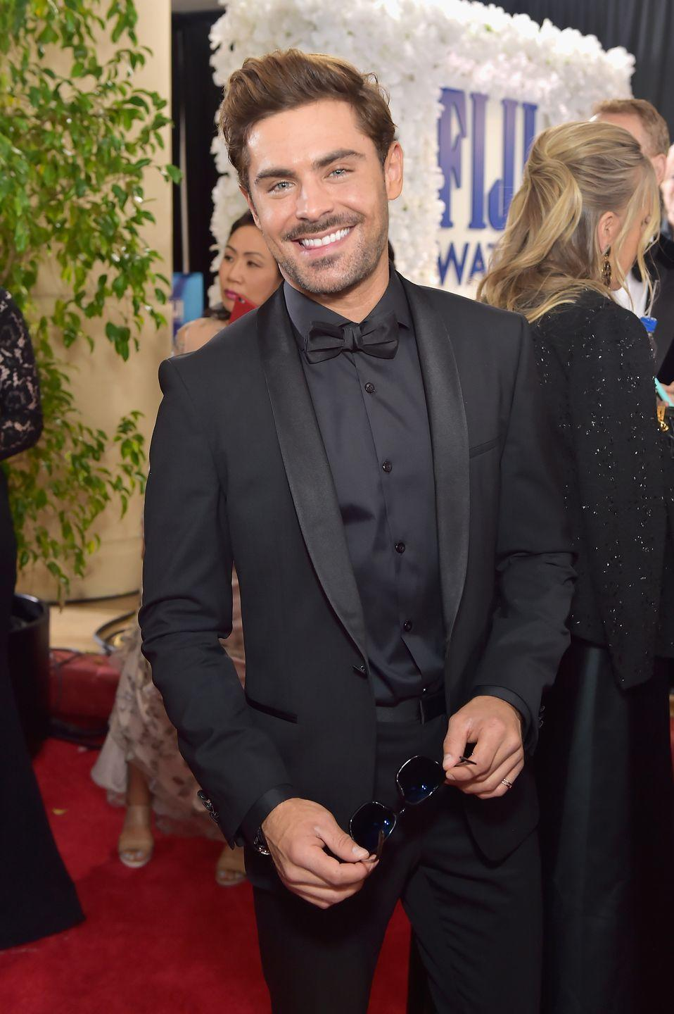 "<p>The star stopped drinking in 2013 following a brief stint in rehab. In a 2016 interview with <a href=""https://www.elle.com/culture/celebrities/news/a35753/zac-efron-cherchez-la-femme-2016/"" rel=""nofollow noopener"" target=""_blank"" data-ylk=""slk:US ELLE"" class=""link rapid-noclick-resp"">US ELLE</a>, the actor said that sobriety has helped him find structure in life.</p><p>'There was a moment when my morning routine was, like, Get up and Google yourself. But that stopped, dramatically and instantly, probably three years ago,' he said.</p><p>'I realised that viewing yourself through other people's pictures is not living your own life. I wasn't really being myself. A lot of my hobbies had gone out the window. I couldn't skateboard or surf for fear of being followed. Crossing the line of fear is what leads to greatness.' </p>"