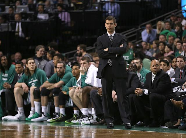 The Celtics have a superstar on the roster. He just wears a suit and tie. (Jim Rogash/Getty Images)