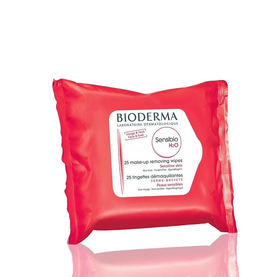 <p>The cult favorite micellar water (and lazy-girl staple) works just as well in wipe form. These <span>Bioderma Sensibio H2O Biodegradable Facial Cleansing and Makeup Remover Wipes</span> ($9) are gentle but still get the job done.</p>