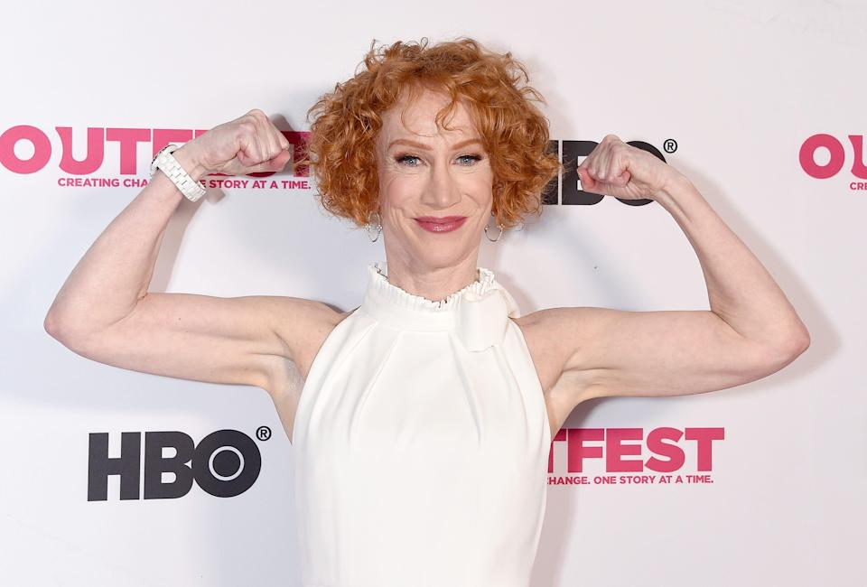 Kathy Griffin says she was in shock after learning she has lung cancer.