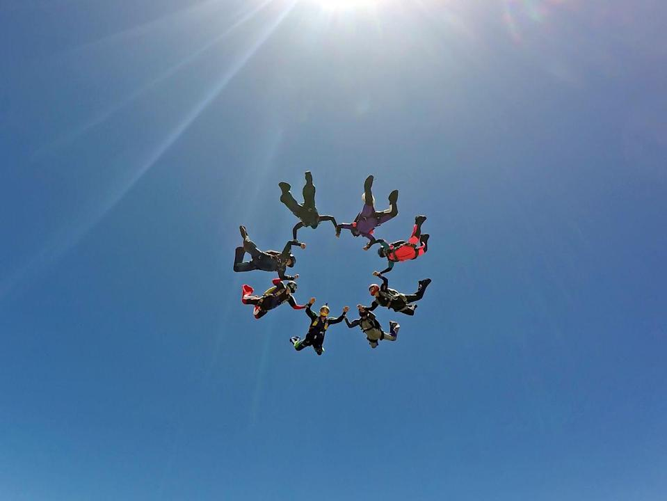 <p>If you're still a thrill-seeker at 50, consider throwing a skydiving or flying trapeze party with your friends. This idea not for the faint of heart, but your 50th birthday is the perfect opportunity to cross a big item off your bucket list!</p>