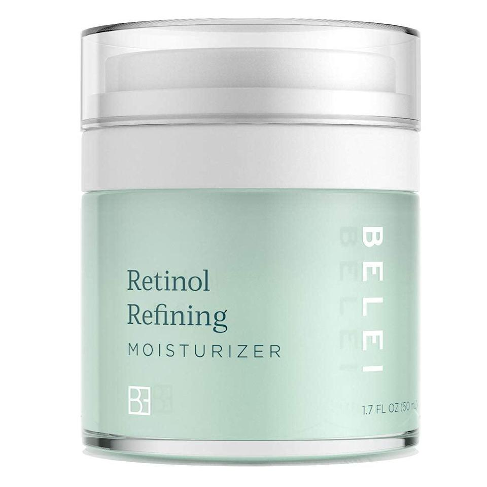 """<h3><h2>Retinol Refining Moisturizer</h2></h3><br>""""I typically don't moisturize at night (I know, I'm bad), so I was excited to try this moisturizer! The bottle itself is super user-friendly and allows for easy application. The formula is soft, not too scent-heavy, and has been kind to my overly sensitive (and typically easily irritated) skin. I'm eager to see how continuous application will leave my skin."""" — Katie Cruz, Associate Social Media Editor<br><br><strong>Belei</strong> Retinol Vitamin A Refining Moisturizer, $, available at <a href=""""https://amzn.to/2TIiA5r"""" rel=""""nofollow noopener"""" target=""""_blank"""" data-ylk=""""slk:Amazon"""" class=""""link rapid-noclick-resp"""">Amazon</a>"""