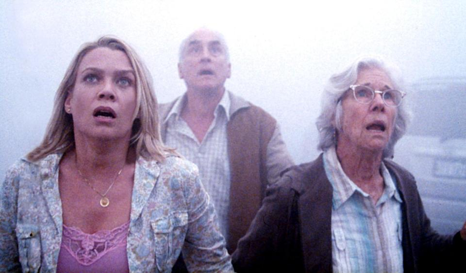 <p>What lies in the mist? Monsters. A whole lot of monsters. Forget the bland television adaptation, because the 2007 film <strong>The Mist</strong> is a near-perfect horror film. It takes a group of people and strands them in a small-town grocery store as an unforgiving mist blankets their town. The movie is full of creature-filled jump scares, but the most unsettling moment is the bleak and unexpected way the story ends. It's a haunting conclusion to a thrilling story that expertly mixes the supernatural with human paranoia.</p>