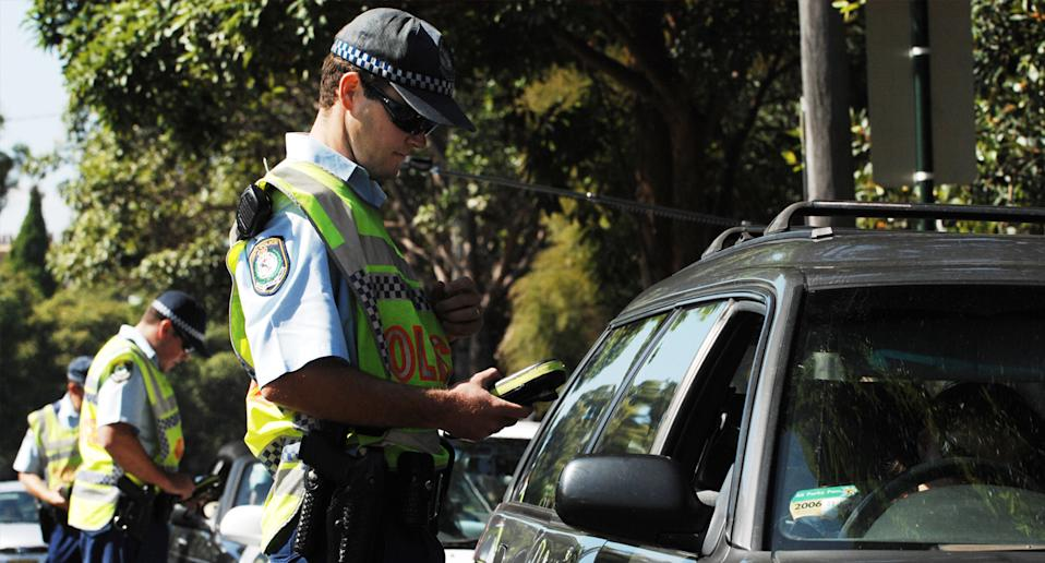 Police issuing breath tests