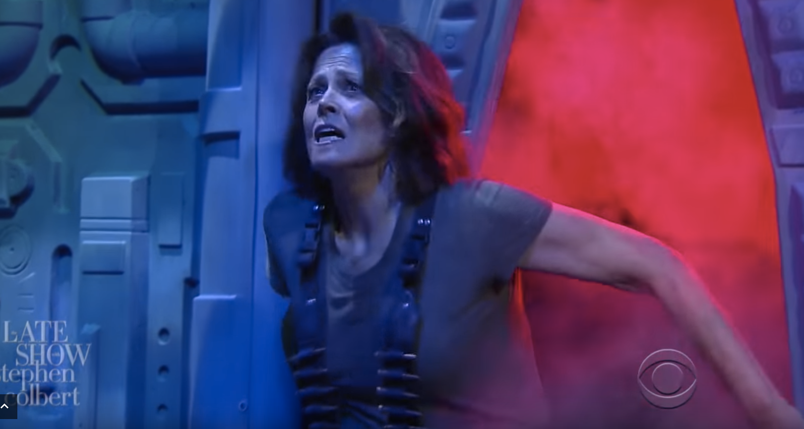 Sigourney Weaver reprising her most famous role as Ellen Ripley (CBS)