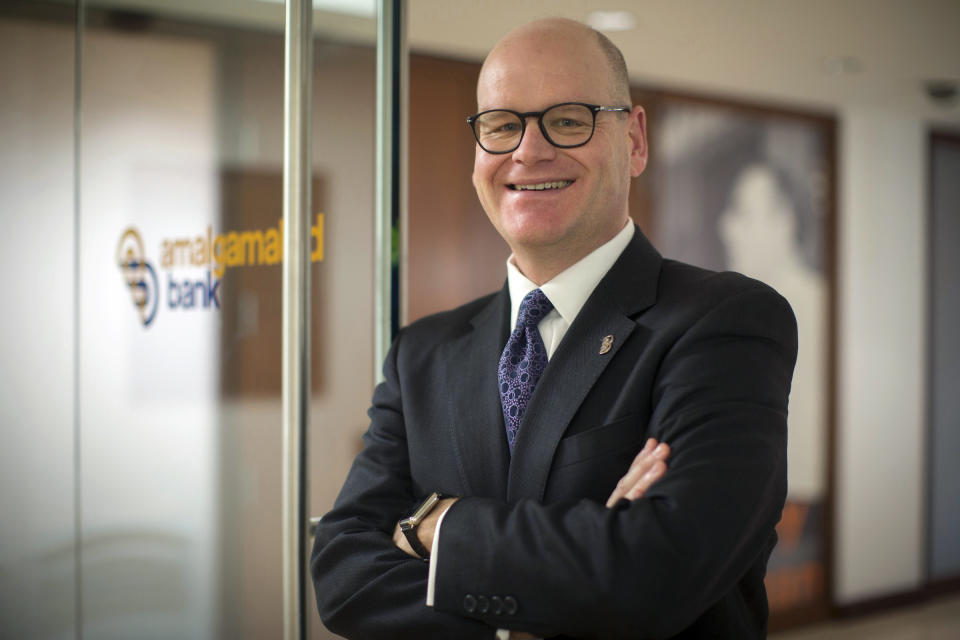 <p> This undated photo provided by Amalgamated Bank shows Keith Mestrich, the bank's chief executive. Mestrich spoke to The Associated Press about recent changes at the bank and this year's election cycle. (Amalgamated Bank via AP) </p>