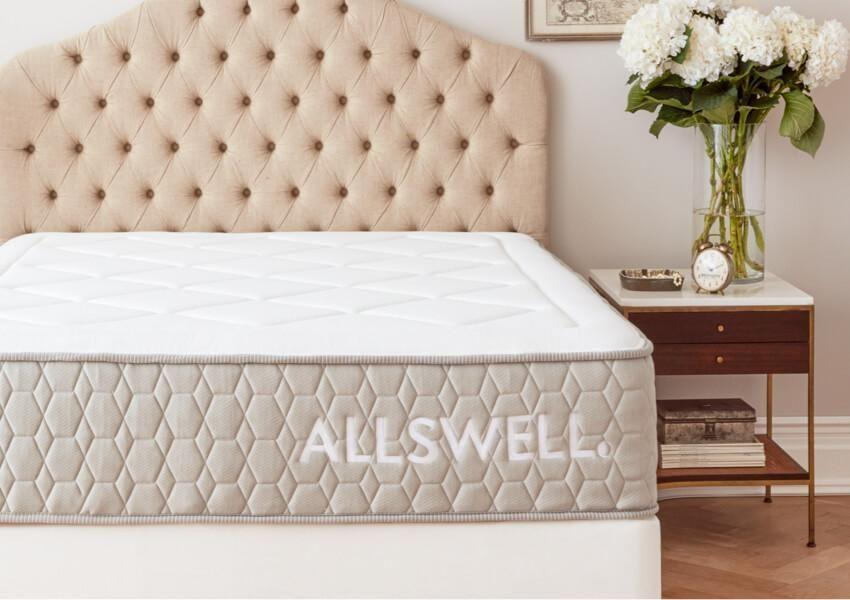 """<p><strong>Allswell </strong></p><p>walmart.com</p><p><strong>$585.00</strong></p><p><a href=""""https://go.redirectingat.com?id=74968X1596630&url=https%3A%2F%2Fwww.walmart.com%2Fip%2F916067043&sref=https%3A%2F%2Fwww.goodhousekeeping.com%2Fhome-products%2Fg4138%2Fbest-mattress-in-a-box%2F"""" rel=""""nofollow noopener"""" target=""""_blank"""" data-ylk=""""slk:Shop Now"""" class=""""link rapid-noclick-resp"""">Shop Now</a></p><p>Allswell's mattress is <strong>packed with features, but it's also one of the most affordable brands</strong> in our roundup. It's not the cheapest, but for what it offers, we think it's the best value. It has memory foam to give you support, coils for extra comfort, and a plush topper to make it even more luxurious. Our panel unanimously said this mattress was worth the price, and several even said it got rid of their neck and back pain. </p><p>If you're looking to save even more, the brand also has a <a href=""""https://go.redirectingat.com?id=74968X1596630&url=https%3A%2F%2Fallswellhome.com%2Fproducts%2Fthe-allswell-hybrid-mattress&sref=https%3A%2F%2Fwww.goodhousekeeping.com%2Fhome-products%2Fg4138%2Fbest-mattress-in-a-box%2F"""" rel=""""nofollow noopener"""" target=""""_blank"""" data-ylk=""""slk:less expensive mattress"""" class=""""link rapid-noclick-resp"""">less expensive mattress</a> that's just $345 for a queen. It has less features (there's no topper and it's not as high), but a reviewer told us it's comfortable and said she's happy with it, except for the lack of support around the edge.</p><p><strong>Trial period</strong>: 100 days</p>"""
