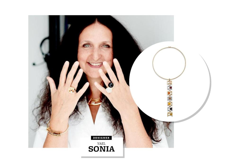 """<p>Yael Sonia's path to becoming a jewelry designer began when she was just a teenager, when her mother had one of her drawings turned into an actual ring by a goldsmith for her 16th birthday. The French-American has spent the last 18 years living and working between New York City and Sau Paulo (she has a showroom in each city), and counts Brazil's rich, cultural and natural contrasts — its busy urban cities, Amazonian forests, the mountains, gorgeous beaches, and the diversity of the people — as her main sources of inspiration.</p><p>Equally as inspiring are the Brazilian gemstones Sonia so often includes in her striking pieces — which helped her earn the International Tahitian Pearl Trophy Award in Design, representing the South American country.</p><p>""""Being in Brazil and having direct access to the best gemstones and stonecutters is very inspiring,"""" she says. """"Having stones custom cut allows me to be freer in my creation. The variety of stones and the exclusive cuts are essential components within each of my collections.""""</p>"""
