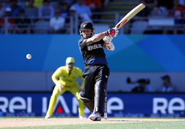 New Zealand's Brendon McCullum plays a shot during against Australia at Eden Park in Auckland on February 28, 2015 (AFP Photo/Michael Bradley )