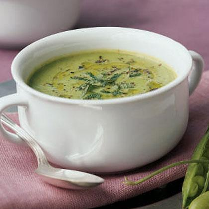 """<p>Serve this soup warm or at room temperature for a first course, or <a href=""""https://www.myrecipes.com/salad-recipes"""" rel=""""nofollow noopener"""" target=""""_blank"""" data-ylk=""""slk:with a salad"""" class=""""link rapid-noclick-resp"""">with a salad</a> for a light meal.</p>"""