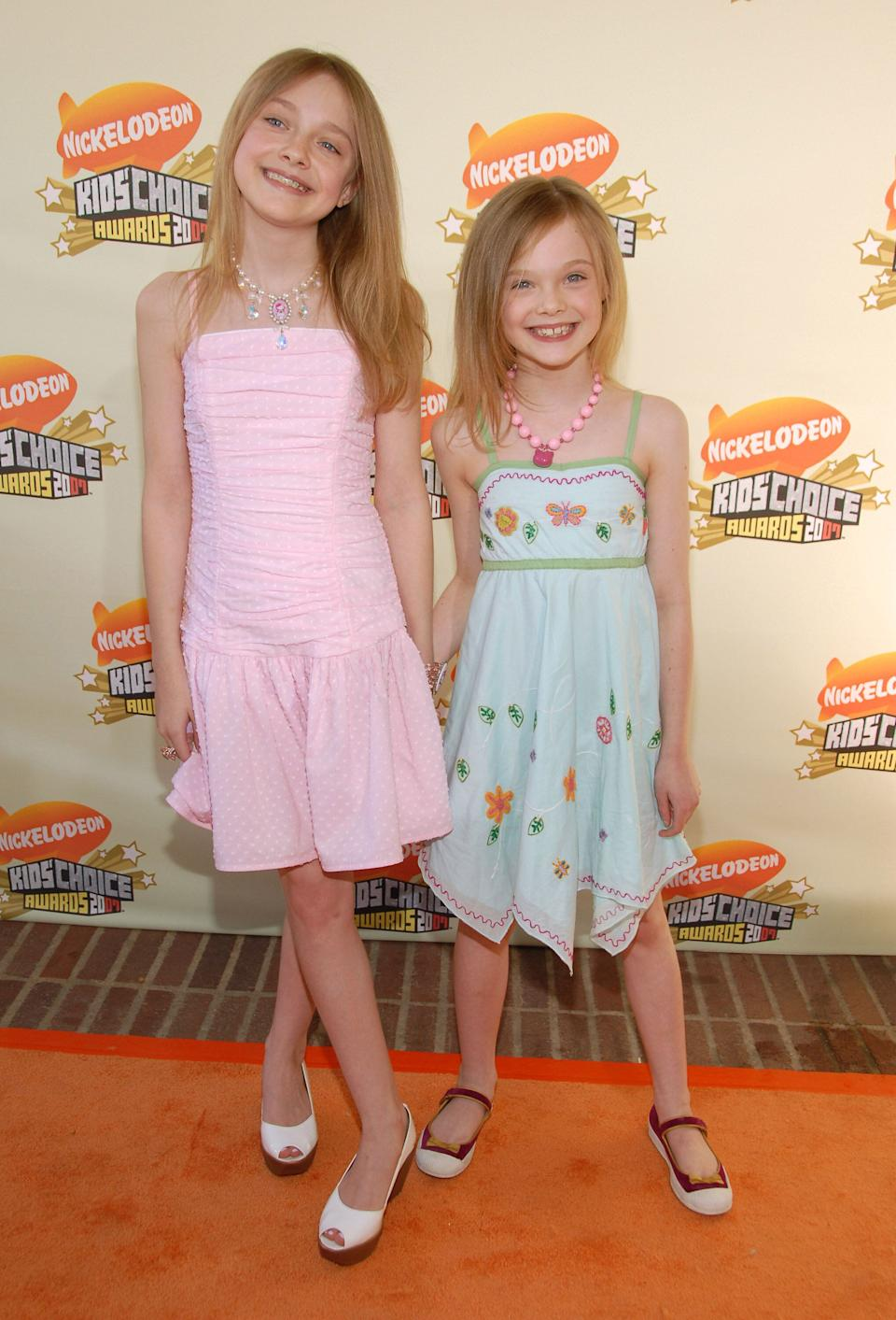 The Fannings at Nickelodeon's 20th Annual Kids' Choice Awards at Pauley Pavilion in Westwood.