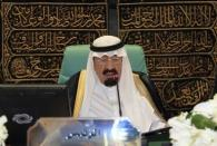 Saudi Arabia's King Abdullah bin Abdulaziz speaks at the opening ceremony of the Organisation of Islamic Conference (OIC) summit in Mecca in this August 14, 2012 file photo. REUTERS/Hassan Ali/Files