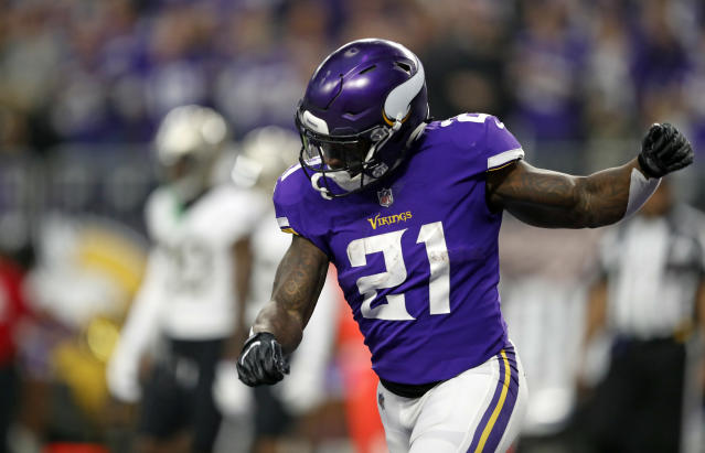 "<a class=""link rapid-noclick-resp"" href=""/nfl/players/27624/"" data-ylk=""slk:Jerick McKinnon"">Jerick McKinnon</a> yoyoed in and out of the lead back role for four years in Minnesota. (AP Photo/Charlie Neibergall)"