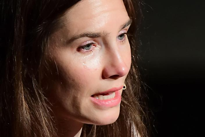 <p>File image: Amanda Knox speaks out over the release of convicted criminal in Kercher's murder</p> (AFP/Getty Images)