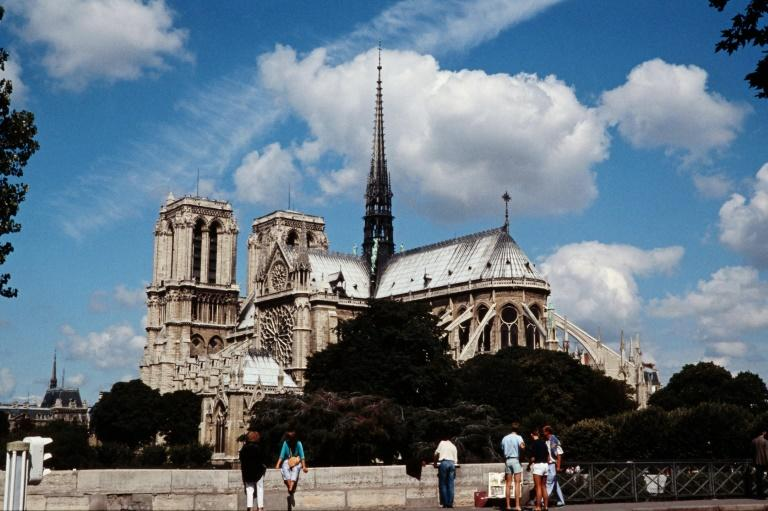 Emmanuel Macron has said he was in favour of a 'contemporary' touch in the reconstruction of the Notre-Dame's spire