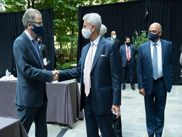External Affairs Minister (EAM) S Jaishankar on Thursday met held a meeting with Global Task Force members, US Chamber & Council leadership.