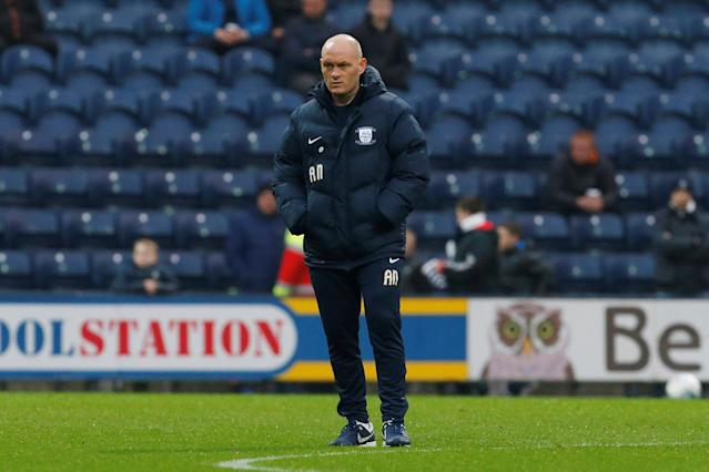 "Soccer Football - Championship - Preston North End vs Leeds United - Deepdale, Preston, Britain - April 10, 2018 Preston North End manager Alex Neil watches his players warm up ahead of the game Action Images/Craig Brough EDITORIAL USE ONLY. No use with unauthorized audio, video, data, fixture lists, club/league logos or ""live"" services. Online in-match use limited to 75 images, no video emulation. No use in betting, games or single club/league/player publications. Please contact your account representative for further details."