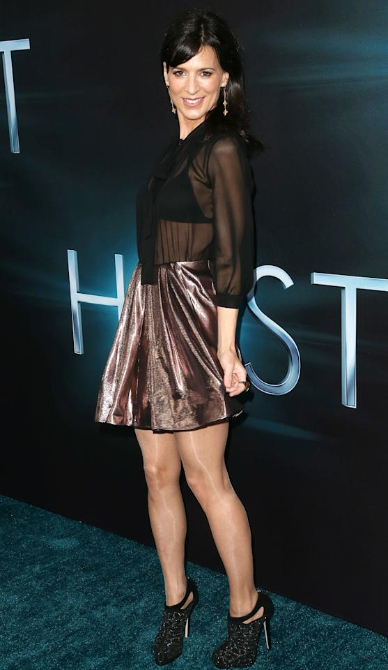 """HOLLYWOOD, CA - MARCH 19: Actress Perrey Reeves attends the Premiere of Open Roads Films """"The Host"""" at the ArcLight Cinemas Cinerama Dome on March 19, 2013 in Hollywood, California.  (Photo by Frederick M. Brown/Getty Images)"""