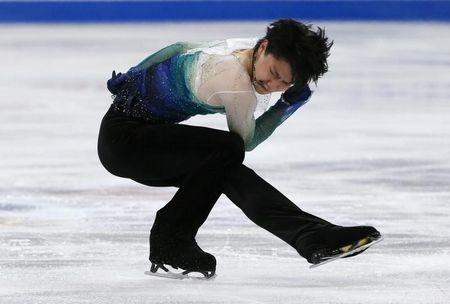 Figure Skating - ISU World Championships 2017 - Men's Free Skating - Helsinki, Finland - 1/4/17 - Yuzuru Hanyu of Japan competes. REUTERS/Grigory Dukor