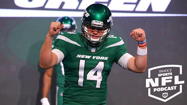 The Jets' new uniforms are the least of their problems according to Kimberley Martin on the latest Yahoo Sports NFL Podcast. (Photo by Rich Graessle/Icon Sportswire via Getty Images)