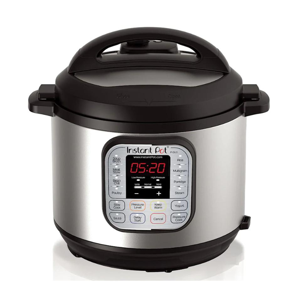 """<p>If you ask us, the Instant Pot is the must-have kitchen appliance of 2018. Cook rice, slow cook brisket or steam veggies with this multi-use pressure cooker and you only get a fraction of the seven functions it boasts. The versatile pot is available in 3-, 6- and 8-quarts, so there's an option for every budget and kitchen.<br /><strong><a rel=""""nofollow"""" href=""""https://fave.co/2Q6D6Jq"""">SHOP IT</a>:</strong> $90 to $160 (was $100-$170), <a rel=""""nofollow"""" href=""""https://fave.co/2Q6D6Jq"""">kohls.com</a> </p>"""