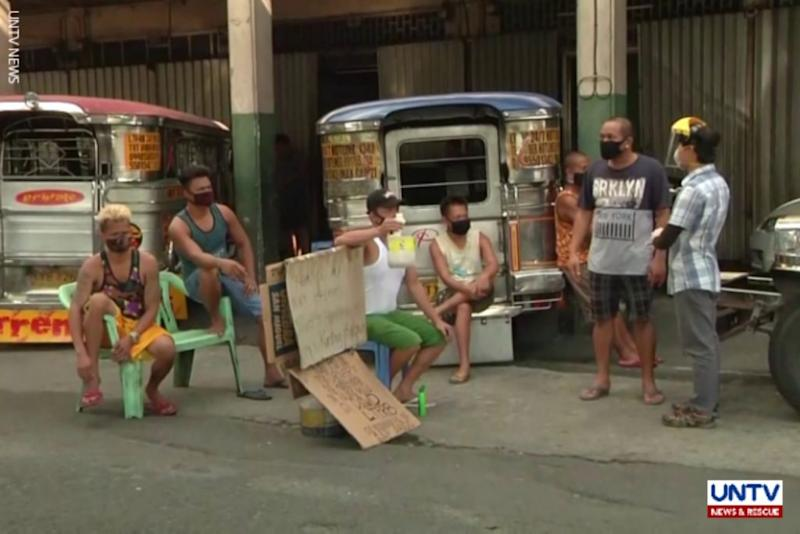 Out Of Job Jeepney Drivers In Manila Turn To Begging Amid Ecq