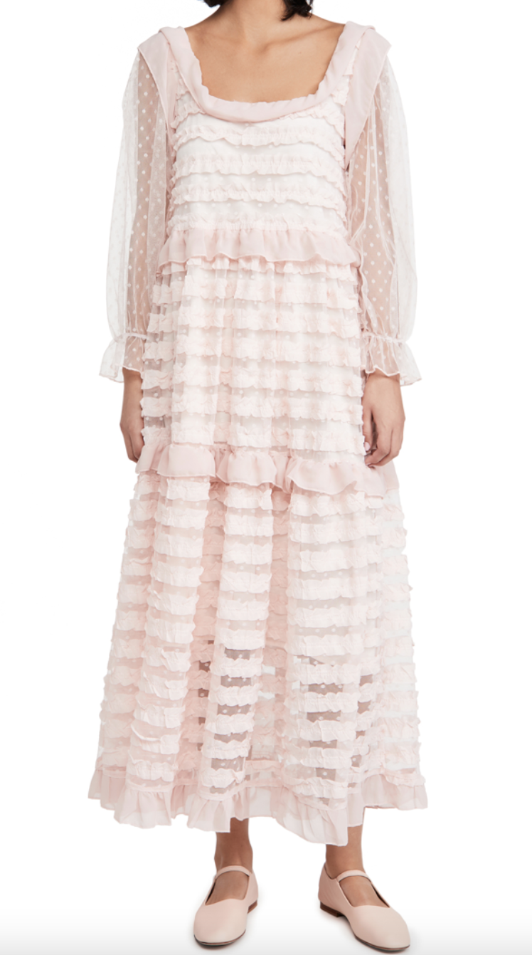 Sister Jane 'Small Talk' Ruffle Midi Dress (Photo via ShopBop)