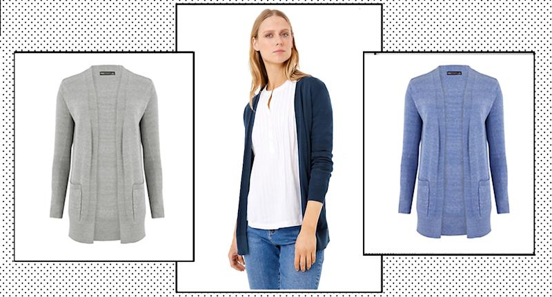 "M&S' top-rated cardigan has been hailed the ""most comfortable"" item and perfect wardrobe staple to transition from summer to winter. (M&S/ Yahoo Style UK)"