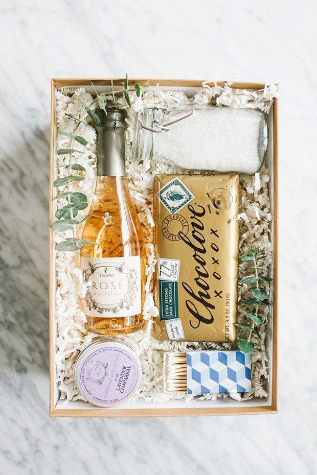 """<p>Odds are, your bestie could always use a good night of pampering. Give her everything she needs to unwind with this sweet gift box, complete with bath salts, rosé, a bar of chocolate, and more.</p><p><strong>Get the tutorial at <a href=""""https://sugarandcharm.com/charming-bubble-bath-gift-box"""" rel=""""nofollow noopener"""" target=""""_blank"""" data-ylk=""""slk:Sugar and Charm"""" class=""""link rapid-noclick-resp"""">Sugar and Charm</a>. </strong></p><p><a class=""""link rapid-noclick-resp"""" href=""""https://www.amazon.com/Bubble-Bath/b?ie=UTF8&node=11056241&tag=syn-yahoo-20&ascsubtag=%5Bartid%7C10050.g.645%5Bsrc%7Cyahoo-us"""" rel=""""nofollow noopener"""" target=""""_blank"""" data-ylk=""""slk:SHOP BUBBLE BATH ESSENTIALS"""">SHOP BUBBLE BATH ESSENTIALS</a><strong><br></strong></p>"""
