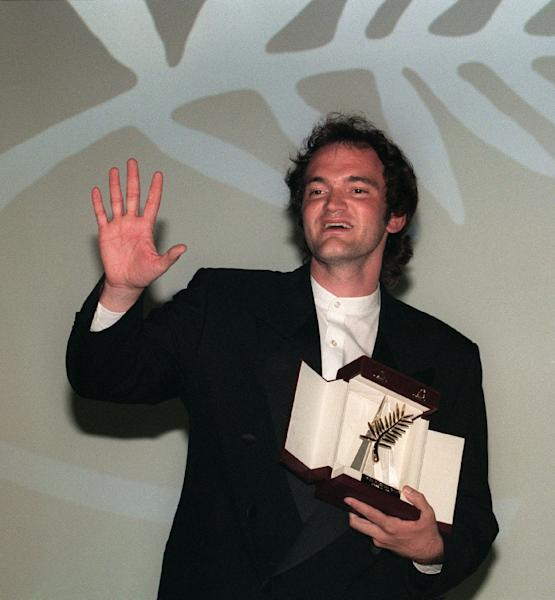 "Quentin Tarantino won the Palme d'Or at Cannes 25 years ago for ""Pulp Fiction"" (AFP Photo/PATRICK HERTZOG)"
