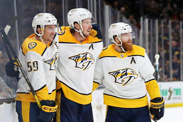 online store 93f7a 2d80f NHL on NBCSN: Predators look to move into Central's top spot ...