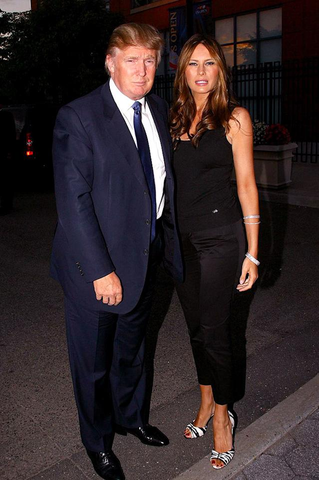 "Donald and Melania Trump pose for a picture before entering the Billie Jean King National Tennis Center. Juan Soliz/<a href=""http://www.pacificcoastnews.com/"" target=""new"">PacificCoastNews.com</a> - September 3, 2008"