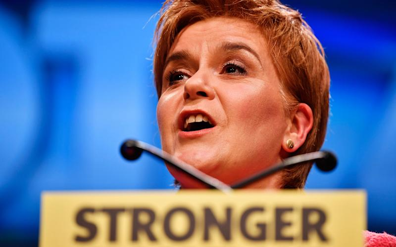 Nicola Sturgeon argued that an independent Scotland would be a 'magnet' for people and investment from the UK - Credit: Getty