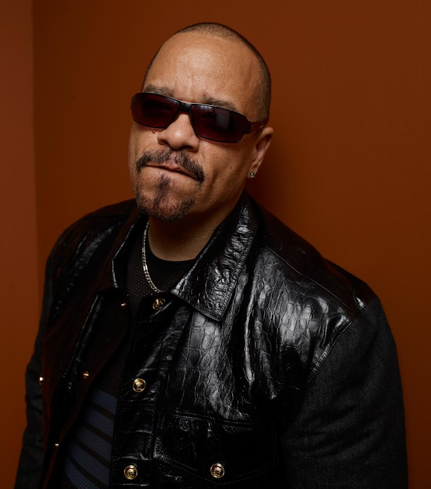 "TORONTO, ON - SEPTEMBER 08:  Actor/rapper Ice-T of ""Iceberg Slim"" poses at the Guess Portrait Studio during 2012 Toronto International Film Festival on September 8, 2012 in Toronto, Canada.  (Photo by Matt Carr/Getty Images)"