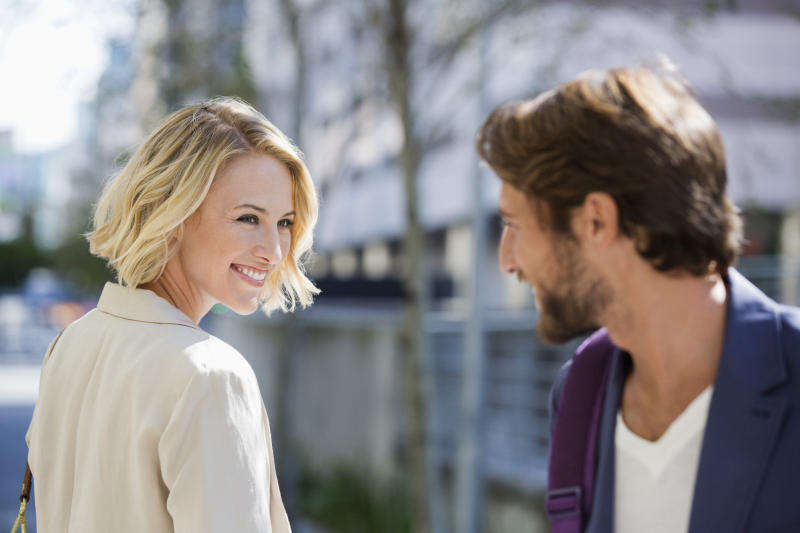 Turns out women have a 'flirty face' when it comes to letting a man know they're interested. (Posed by model, Getty Images)