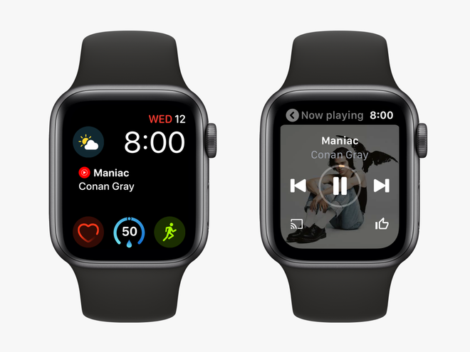 Novo app do YouTube Music para o Apple Watch (Foto: Divulgação/Google)