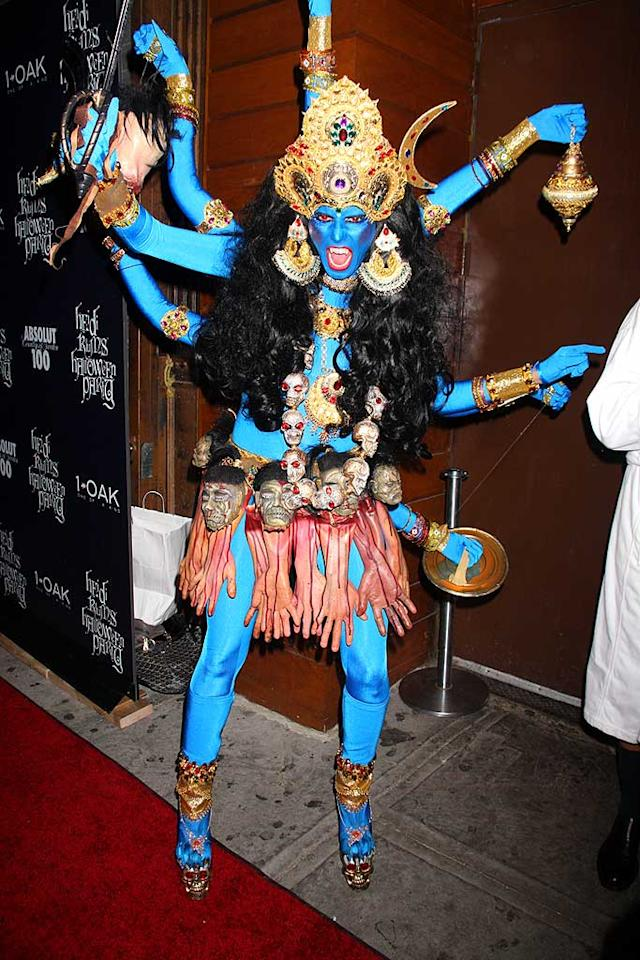"Heidi Klum's Halloween costume is truly terrifying, but it also happens to be the best one we've seen on a celeb this season. Dara Kushner/<a href=""http://www.infdaily.com"" target=""new"">INFDaily.com</a> - October 31, 2008"