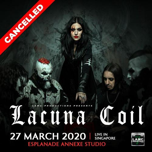 Italian goth metal band Lacuna Coil has cancelled their upcoming show in Singapore.