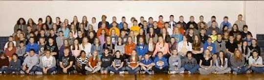 This class photo is getting a lot of attention — because of what it doesn't include. Photo: WXIX