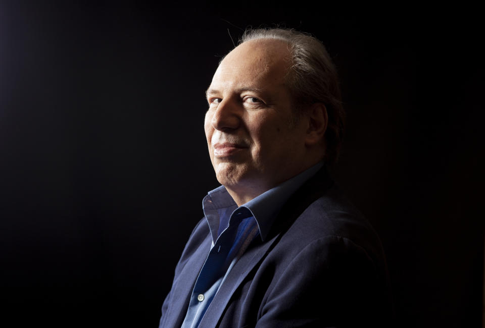 """This July 10, 2019 photo shows composer Hans Zimmer posing for a portrait at the Montage Hotel in Beverly Hills, Calif., to promote the film """"The Lion King."""" (Photo by Rebecca Cabage/Invision/AP)"""