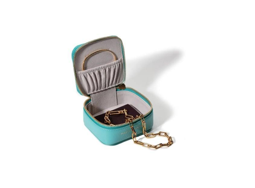 <p>They won't believe how much fits in this <span>Monica Vinader Personalized Leather Trinket Box</span> ($25).</p>