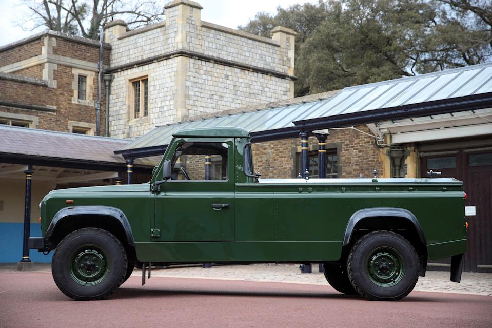 The Duke of Edinburgh's funeral Land Rover