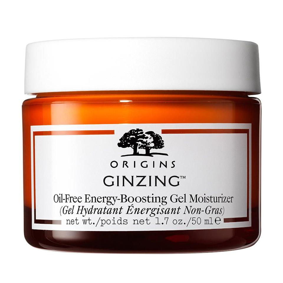 "<p>Origins' GinZing Oil-Free Energy Boosting Gel Moisturizer intensely hydrates the complexion thanks to ingredients like glycerin and niacinamide, both of which are super soothing for the skin. It also contains — you guessed it — ginseng, which zaps energy into the skin to keep it plump and supple.</p> <p>$<strong>18</strong> (<a href=""https://shop-links.co/1689263965940230720"" rel=""nofollow"">Shop Now</a>)</p>"
