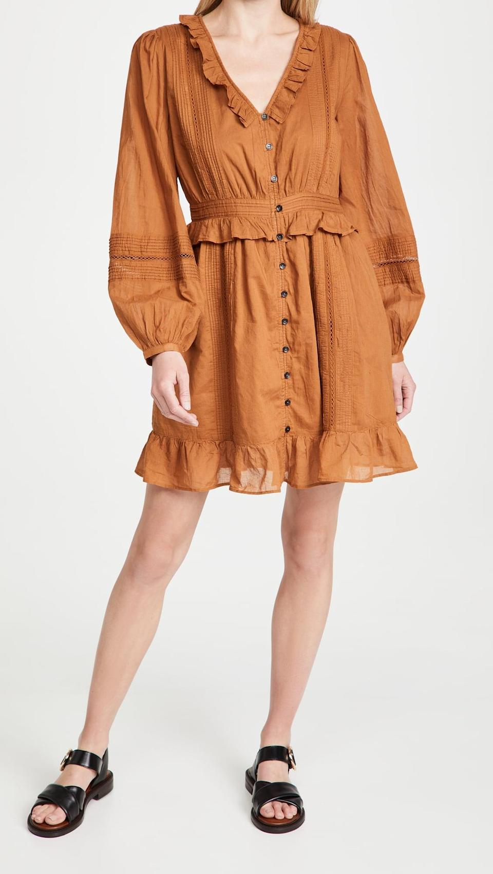 <p>We want to spend all summer in this chic <span>Scotch &amp; Soda Ruffled Cotton Dress</span> ($178).</p>