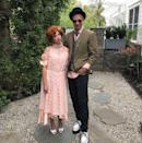 <p>Though the<em> Pretty In Pink</em> characters didn't get together in the end, the real-life couple shows just how cute Andie and Duckie could have been with these throwback costumes. <br></p>