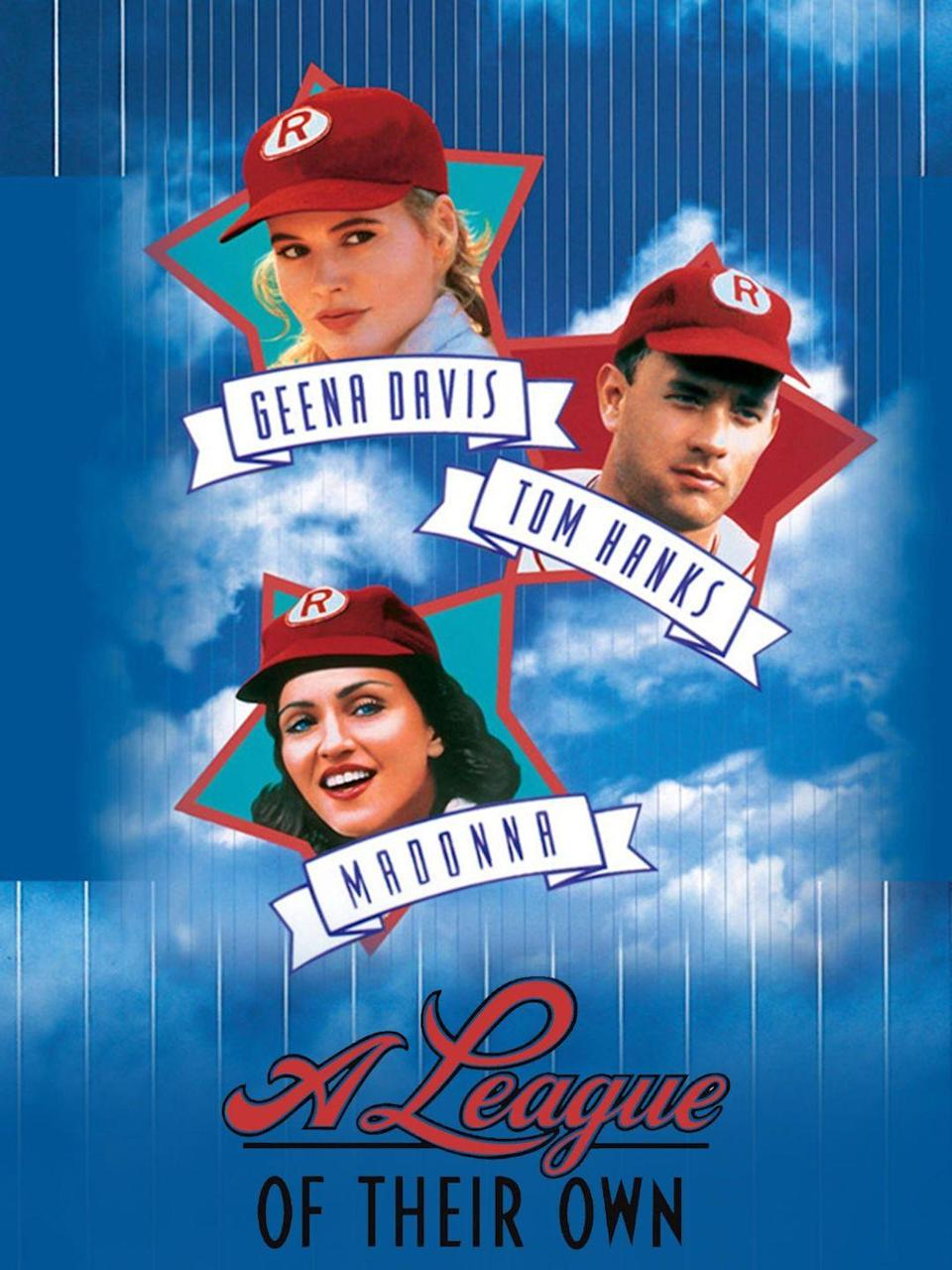 """<p>This classic film tells the story of a women's professional baseball team, assembled during World War II while many of the country's men were overseas. It's a great 4th of July movie the whole family can enjoy. </p><p><a class=""""link rapid-noclick-resp"""" href=""""https://www.amazon.com/League-Their-Own-Tom-Hanks/dp/B00190KZVY?tag=syn-yahoo-20&ascsubtag=%5Bartid%7C10070.g.36156094%5Bsrc%7Cyahoo-us"""" rel=""""nofollow noopener"""" target=""""_blank"""" data-ylk=""""slk:STREAM NOW"""">STREAM NOW</a><br><br></p>"""