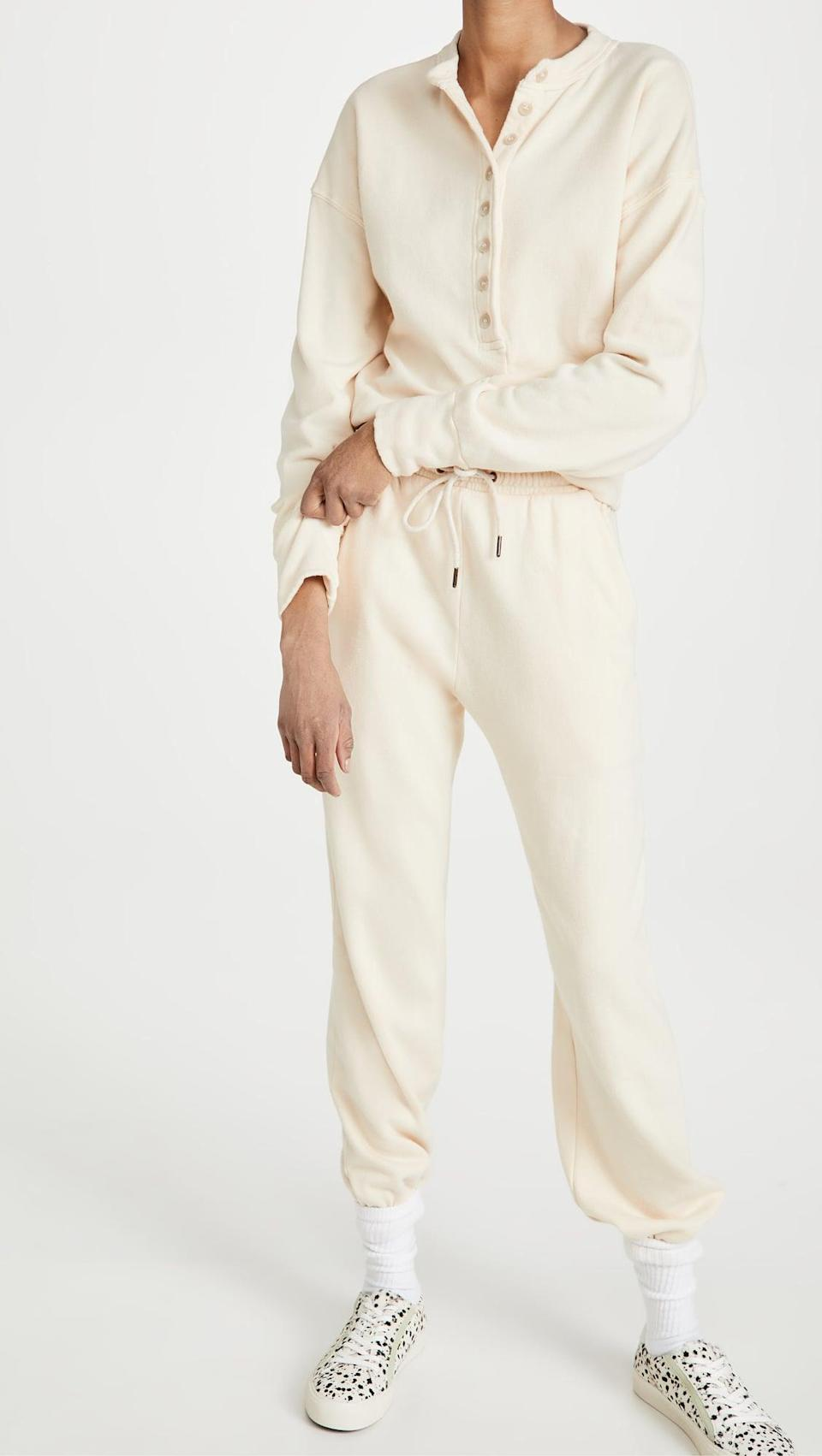 """<p>""""I've been living in this <span>Citizens of Humanity Cora Henley Sweatshirt</span> ($178) and <span> Laila Casual Fleece Pants</span> ($188) set, and not just for cozying up on the couch. It's perfect for throwing on with sneakers or slides and a coat - fall uniform solved!"""" - Hannah McKinley, director, Fashion</p>"""